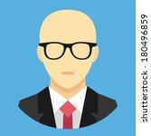 vector bald man in business... | Shutterstock .eps vector #180496859