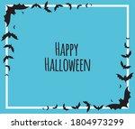 halloween theme blue... | Shutterstock .eps vector #1804973299