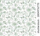 mediterranean food pattern in... | Shutterstock .eps vector #1804976770