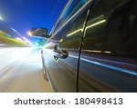 car on the road with motion... | Shutterstock . vector #180498413