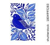 vector illustration in folk art ...   Shutterstock .eps vector #1804995283