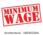 Minimum Wage Red Rubber Stamp...