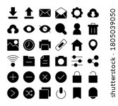 user interface icons glyph...