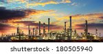 oil refinery industrial plant... | Shutterstock . vector #180505940