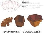 flower pot box packaging design ... | Shutterstock .eps vector #1805083366
