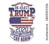re elect trump shirt design for ... | Shutterstock .eps vector #1805091556