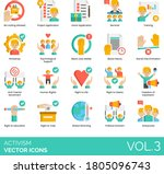 activism icons including no... | Shutterstock .eps vector #1805096743