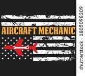 aircraft mechanic usa flag...   Shutterstock .eps vector #1805098309