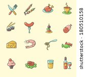 food icons | Shutterstock .eps vector #180510158