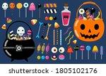 set of halloween candies for... | Shutterstock .eps vector #1805102176