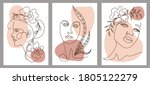 set of creative hand painted... | Shutterstock .eps vector #1805122279