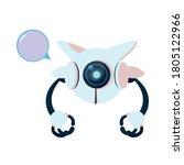 white robot cartoon with... | Shutterstock .eps vector #1805122966