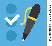vector checklist and pen icon