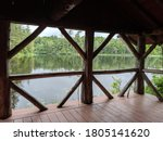 Rustic Open Air Boat House On A ...