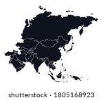 eurasian district  islands plan ... | Shutterstock .eps vector #1805168923