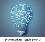 conceptual image of light bulb... | Shutterstock . vector #180519440