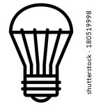 led light bulb vector icon | Shutterstock .eps vector #180519998