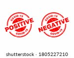 abstract red grungy covid 19... | Shutterstock .eps vector #1805227210