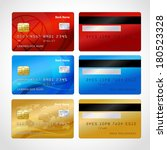 realistic credit cards set... | Shutterstock .eps vector #180523328