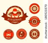 car auto service labels badges...   Shutterstock .eps vector #180523370