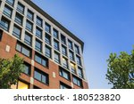 suburban apartment building on... | Shutterstock . vector #180523820