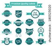 set of premium quality best... | Shutterstock .eps vector #180525020