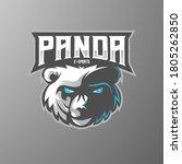 panda mascot logo design vector ...   Shutterstock .eps vector #1805262850