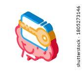 key for brain icon vector.... | Shutterstock .eps vector #1805273146