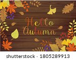 autumn style autumn leaves and... | Shutterstock .eps vector #1805289913