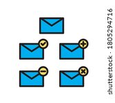 email icon set vector eps