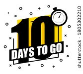 10 days to go. banner on a... | Shutterstock .eps vector #1805302210