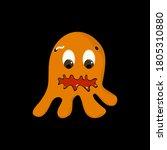 cartoon cute orange little... | Shutterstock .eps vector #1805310880
