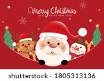 merry christmas and happy new... | Shutterstock .eps vector #1805313136