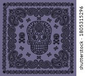 bandana pattern with skull and ... | Shutterstock .eps vector #1805315296