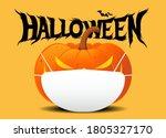 halloween jack o lantern... | Shutterstock .eps vector #1805327170