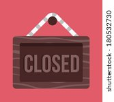 vector closed hanging sign icon