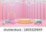 abstract 3d illustration mock...   Shutterstock . vector #1805329849