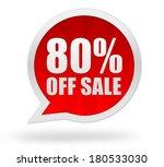 eighty percent off sale | Shutterstock . vector #180533030