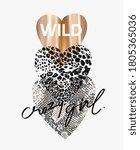 wild crazy girl  slogan on... | Shutterstock .eps vector #1805365036
