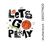 let's go play vector... | Shutterstock .eps vector #1805379820