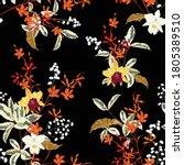 beautiful dark blooming gentle...   Shutterstock .eps vector #1805389510