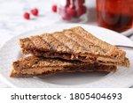 Tasty Sandwiches With Raspberry ...