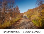Stony Dirt Road In The Autumn...
