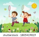 vector illustration cartoon of... | Shutterstock .eps vector #1805419819