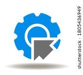 cog wheel arrow inside icon... | Shutterstock .eps vector #1805436949