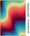 1970s color pattern  wavy... | Shutterstock .eps vector #1805438380