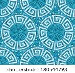 Seamless Mosaic Pattern    Blu...