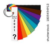 choice trend color of the year... | Shutterstock .eps vector #1805454913