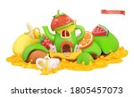 fairytale house. sweet fruits.... | Shutterstock .eps vector #1805457073
