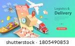 3d isometric flat vector... | Shutterstock .eps vector #1805490853